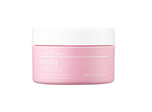 [SKIN&LAB] pink clay mask with pink clay from France, even and bright skin tone, calming, smoothing, moisturizing, caring pore, Calamin, pink flower complex, 100g, 3.5oz…