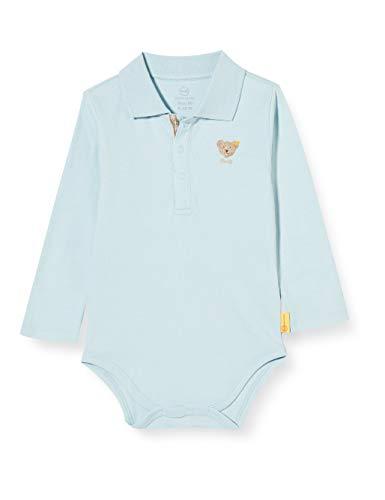 Steiff Unisex Baby Langarm mit Bubikragen Body, Angel Falls, 74