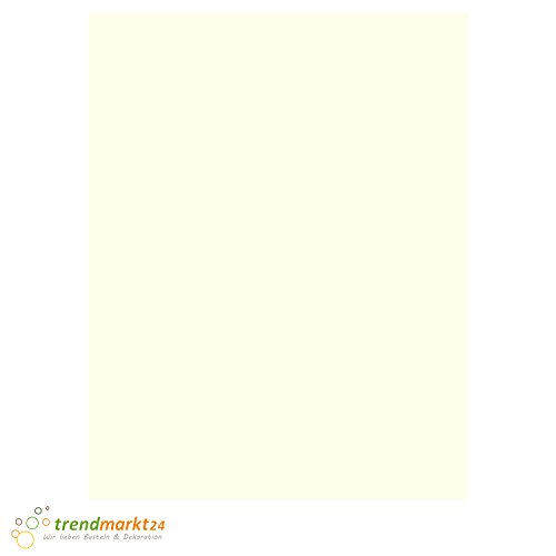 Tonpapier Perl-Weiß DIN A4 130 g/m² | 100 Blatt Set einfarbig 130 g/qm Bastel-Papier/Ton-Karton-Schul-Papier farbig zum basteln bemalen | Kinder Hochzeit - 806401