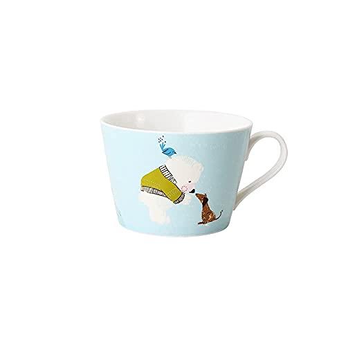 DAQ Taza de café Tazas de café de cerámica Taza de Avena nórdica Latte Hot Kaka Espresso Taza de café Adecuada para la Tienda de la Oficina del albergue Taza de Barista Tazas de café 430 ml, Tazas