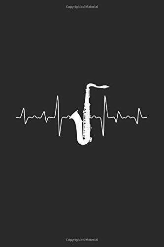 Saxophone Heartbeat: Saxophones Notebook, Blank Lined (6
