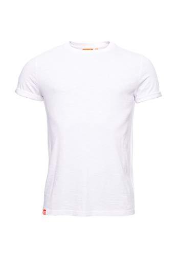 Superdry Hombre Camiseta de algodón orgánico Low Roller Óptico L