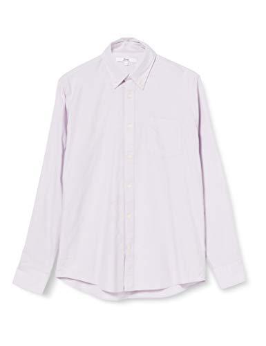 Amazon-Marke: find. Herren Langärmeliges Oxford-Hemd, violett (Flieder), S, Label: S