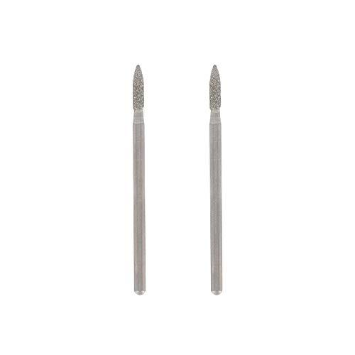 Dremel 7144 Diamantbestückter Fräser - Zubehörsatz für Multifunktionswerkzeug mit 2 Diamant-Fräser ø 2,4 mm zum Gravieren, Schnitzen, Fräsen und Finisharbeiten