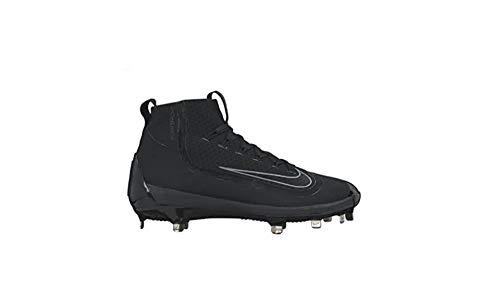 Nike Men's Air Huarache 2kfilth Elite Mid Baseball Metal Cleats, Black/Wolf Grey 10.5 M US