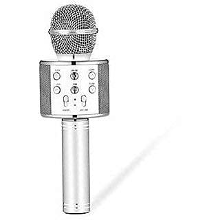 Stybits Wireless Karaoke Mic Rechargeable Microphone|Bluetooth Singing Microphone With Audio Recording and Bluetooth Speaker| SILVER