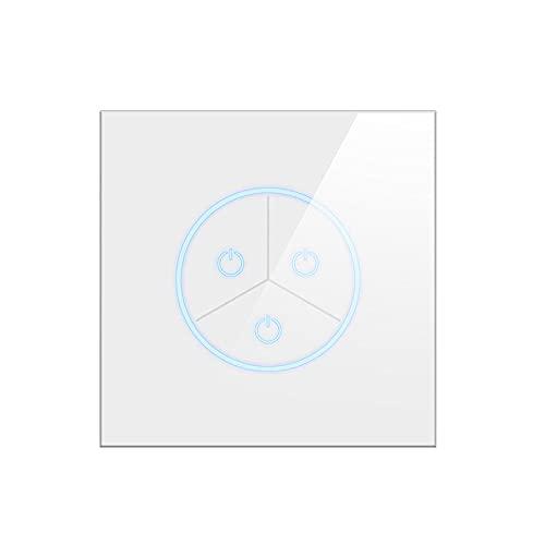 NGHSDO Interruptor Tactil 1/2/3 Gang Wall Light Touch Switch Smart Lighting Interruptor Inteligente (Color : White, Size : 3gang)
