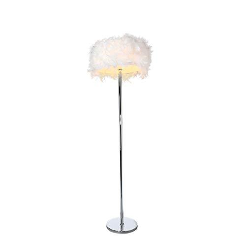 jinyi2016SHOP Lámpara de Pie Interior Creativo Cálido Romántico Pluma Lámpara de pie Salón Dormitorio Estudio Lámpara de pie para Hogar, Salón y Dormitorio (Color : A)