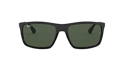 Ray-Ban Unisex Rb4228 Sonnenbrille, (Gestell: schwarz Glas: grün 601/71), Large (Herstellergröße: 58)