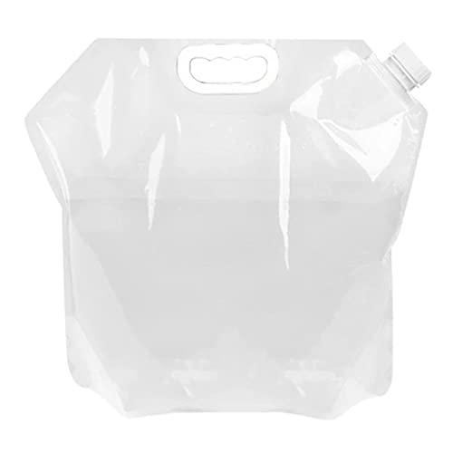 S SMAUTOP Bolsa de Agua de 5L / 10L Bolsa de Agua para Exteriores Plegable portátil de Agua Potable Campamento Picnic Barbacoa contenedor de Agua Bolsa Portador