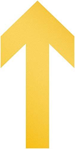 Durable 104804 Bodenaufkleber Pfeil, ablösbar, 100 mm x ca. 0,2 mm x 200 mm, 10 Stück, gelb