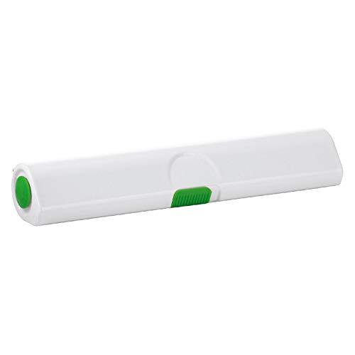 Emsa 508270 Folienschneider für Alu- oder Frischhaltefolie, Größe 33 cm, Click und Cut, grün/weiß
