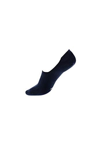 ZD ZERO DEFECTS Calcetín Invisible -Algodón Orgánico,Transpirable y reforzado con silicona en el talón |Talla 39-42,Color Azul