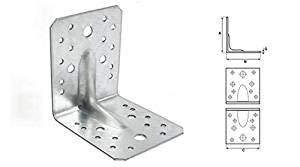 Preisvergleich Produktbild Stalco 20 x Winkel Winkelverbinder Bauwinkel Holzverbinder KPW mit CE Zulassung (KPW12 125x125x90 mm)