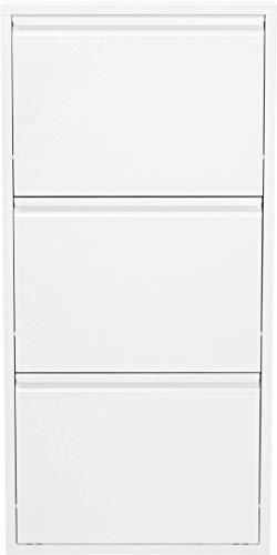 KARE Zapatero Caruso 3, Blanco, 103 x 14 x 50 cm, Acero, 103 x 50 x 14 cm