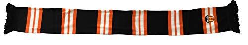 Valencia CF Bufanda Tricolor Bordado Bufanda, Unisex adulto, Multicolor (Naranja/Blanca/Negra Naranja/Blanca/Negra), One Size (Tamaño del fabricante:Talla Unica)