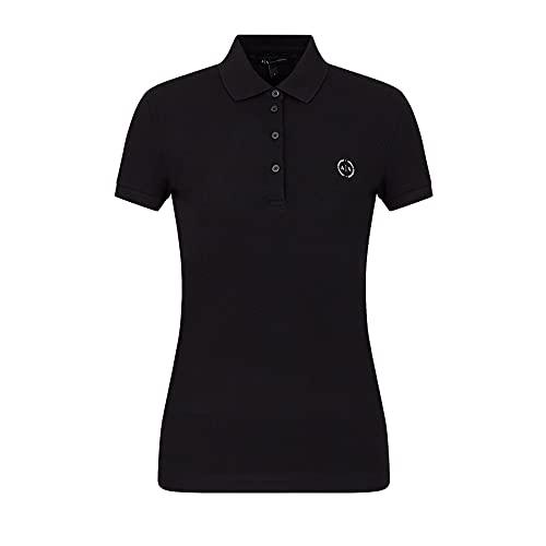 Armani Exchange Evergreen Polo, Negro (Black 1200), Large para Mujer