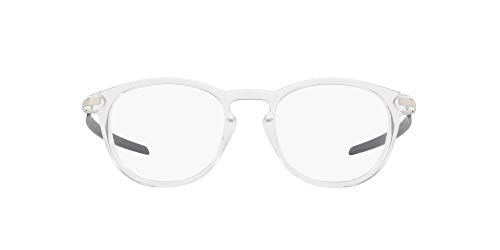 Oakley Men's OX8149 Pitchman R Carbon Round Prescription Eyeglass Frames, Polished Clear/Demo Lens, 50 mm