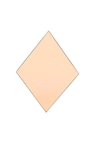 House Doctor Spiegel, Diamant, Rose, 21,5 x 16 cm