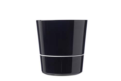 Mepal 108615040400 Kräutertopf Hydro Herbs large schwarz – immer frische Kräuter in der Küche – auch für Pflanzen geeignet – spülmaschinenfest, Melamine