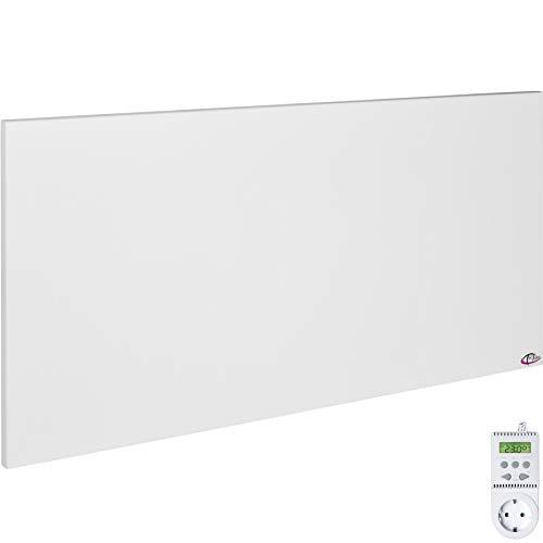 TecTake Infrarotheizung Elektroheizung Infrarot Heizkörper IR Heizung inkl. Wand- und Deckenhalterung Heizfolie Made in Germany - diverse Größen - (900 Watt mit Thermostat TS05 | Nr. 401710)
