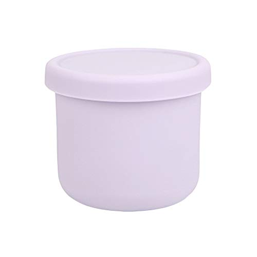 Dailylike BONBON Silicone Baby Food Storage Freezer Containers with Lids | Airtight, Leakproof Food Jars for Babies & Infants | Dishwasher, Microwave, Refrigerator Safe, BPA Free (8.45oz, Lavender)