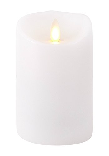 Liown Flameless Candle: Unscented Moving Flame Candle with Timer (4' White)