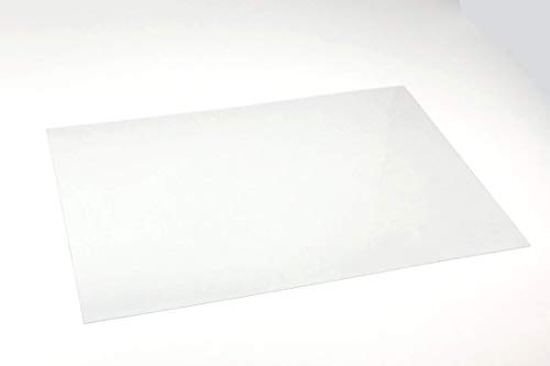 PET-G Tiefziehfolie | Transparent | Stärke 0,25mm | DIN A4 210mm x 297mm … (10)