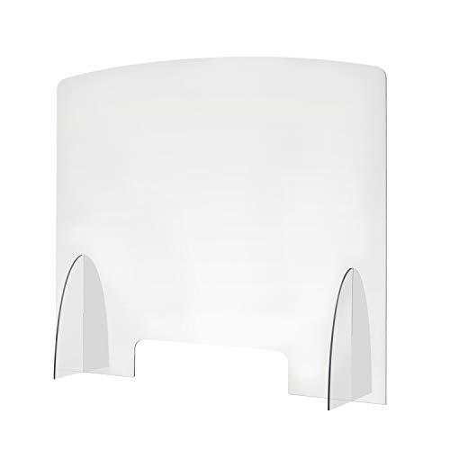 gbways Pannelli Plexiglass Adesivi Omaggio Parete Divisoria Trasparente Anticontagio Ancora più Resistente 4mm Innovativo Schermo Separatore Scuole Scrivania Alta qualità 100% Made in Italy, 75x65