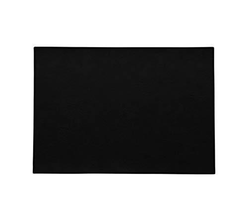 ASA - Tischset - Farbe: Black, schwarz - veganes Kunstleder - 46 x 33 cm