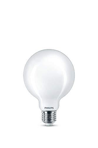 Philips Lighting Lampadina LED Globo, Equivalente a 60W, Attacco E27, Luce Bianca Calda, 2700K, non Dimmerabile