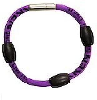 Nikken Kenko PowerBand Sport Magnetic Wrist Bracelet (Purple, Large)