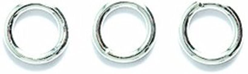 Shipwreck Beads Electroplated Brass 18-Gauge Solid Jump Rings, 6mm, Metallic, Silver, 7-Gram