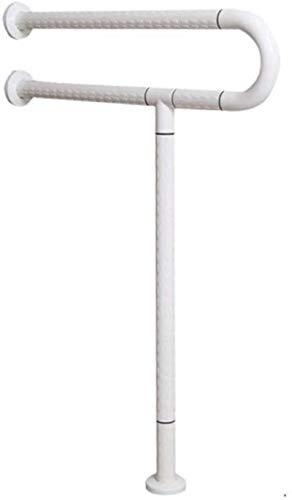 GAOLILI Barras de sujeción Sin barreras manija, Aseo Baranda de Acero Inoxidable Antideslizante de Seguridad Barra de sujeción de baño WC apoyabrazos Pasamanos (Color : White)