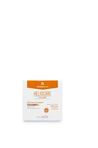 Heliocare Color Compacto Oil-Free SPF 50 - Fotoprotección Avanzada con Color, Antioxidante, Formato Compacto, Acabado Mate, para Pieles Mixtas o Grasas, Brown, 10gr