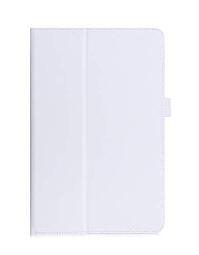 Galaxy Tab A 10.1 Funda,ISIN Folio Funda Case Cover Carcasa con Stand Función para Samsung Galaxy Tab A de 10,1 pulgadas SM-P580 P585(S-Pen Versión) ( No apto para Tab A 10.1 SM-T580 SM-T585)Android Tablet con Correa para la Mano,Soporte para lápiz táctil y Ranuras para Tarjetas (Blanco)