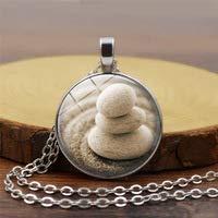 Huang cristal arte tres pequeño collar de piedra colgante de auto-cultivo salud declaración collar suéter cadena joyería regalo