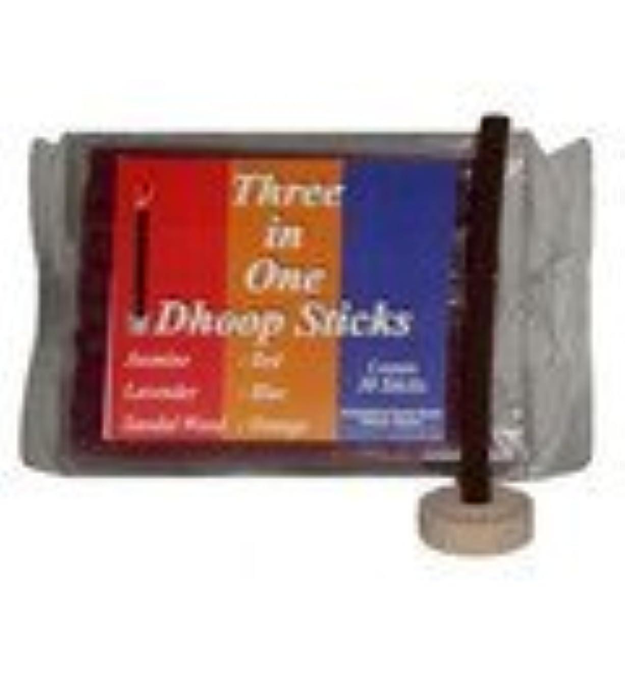 乳白色興奮する先住民Mixed Pack Dhoop Pure Incense Sticks