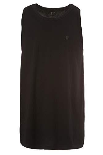 JP 1880 Herren große Größen bis 8 XL, Basic Unterhemd, Tanktop, Ärmellos, Rundhals, schwarz 5XL 705145 10-5XL