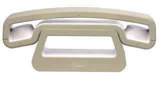 Swissvoice ePure Schnurloses Analog-Telefon (DECT) mit beleuchtetem Display und Full Eco-Mode weiß-beige
