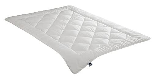 Badenia Bettcomfort Irisette Merino Steppbett, Duo Bettdecke aus Schurwolle für den Winter, 135 x 200 cm, weiß