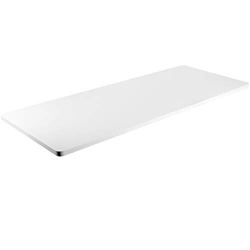 VIVO White 60 x 24 inch Universal Solid One-Piece Table Top for Standard and Sit to Stand Height Adjustable Home and Office Desk Frames, DESK-TOP60W