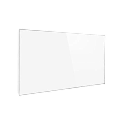 Klarstein Wonderwall Air Infrarotheizung, Carbon Crystal Infrared, IR ComfortHeat, ZeroNoise Infrared, OpenWindow Detection, ideal für Allergiker, Thermostat, 101 x 60 cm, 600 W, antikweiß