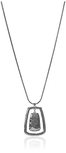 NINE WEST Women's Silvertone Adjustable Pendant Necklace, 36' L