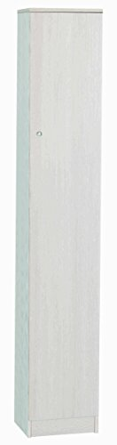 Esidra Armadio 1 Anta, Legno Chiaro, 31 x 34 x 183 cm