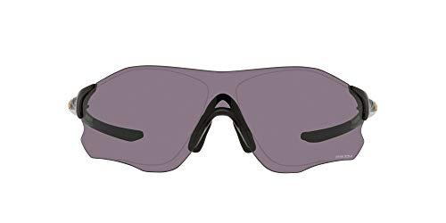 Oakley Men's OO9313 EVzero Path Asian Fit Rectangular Sunglasses, Polished Black/Prizm Grey, 38mm