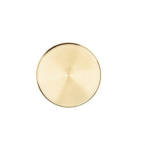 Plateaux de rangement en acier inoxydable rond couleurs d'or Style Simple Simple Bijoux Collier Cosmétique Dessert Plaque Accueil Organisateur (Color : M)