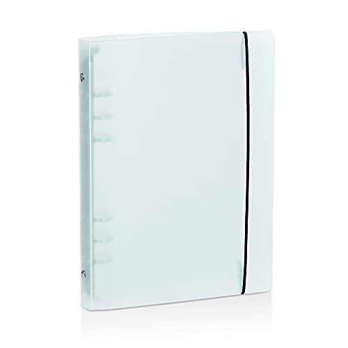 Carpeta de Anillas con 6 Agujeros, A5 Hojas Sueltas Cuaderno, Portatil Translúcido, Carpeta de Anillas de Plástico para 6 Agujeros, Páginas de Planificador Paquete de Recambio (18 x 23,5 x 2,5 cm)