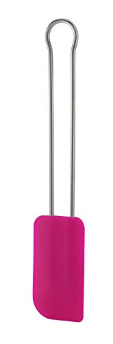 RÖSLE Teigschaber Pink Charity Edition, Hochwertiger Teigspachtel als Back- und Kochhelfer, strapazierfähiges Silikon, 26 cm, Edelstahl 18/10, -30°C bis +230°C, Spülmaschinengeeignet