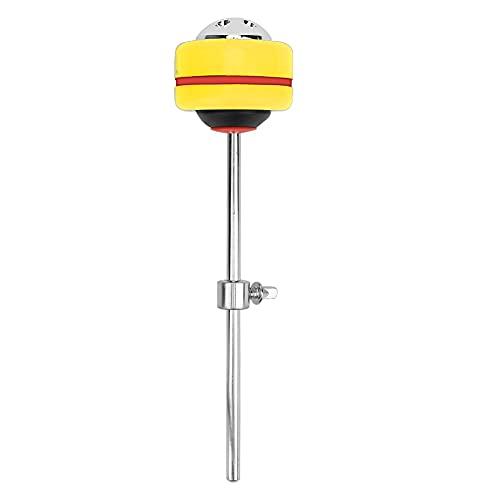 Martillo de tambor de metal + silicona para reemplazar partes de tambor para diferentes actuaciones.(yellow)